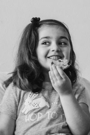 Bahra, age 6, future baker and world traveler from the Kurdistan Region of Iraq and Hyattsville, MD.