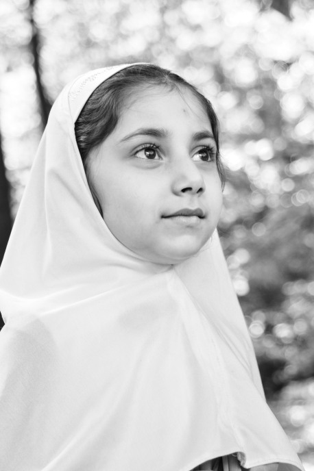 Zahra, age 7, future neurologist, from Afghanistan and Reston, VA.