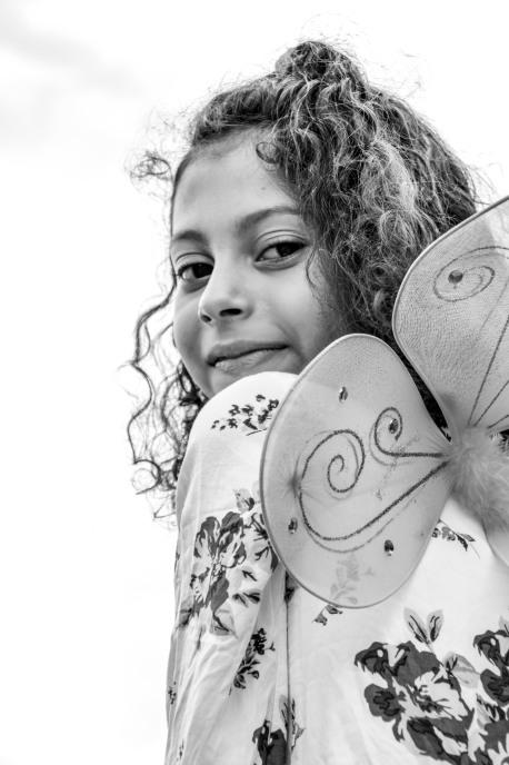 Suri Ailin, age 7, future music teacher, from El Salvador and Riverdale, MD.