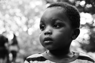 Adelphe, age 2, future dinosaur from the Central African Republic and Riverdale, MD.