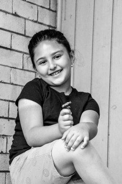 Tala, age 7, future emergency doctor in the U.S. and in Jordan, from Syria and Hyattsville, MD.